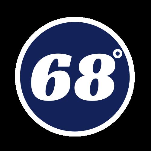 Official Logo for 68 Degrees HVAC